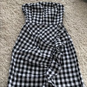 ( Reverse)flannel tight dress